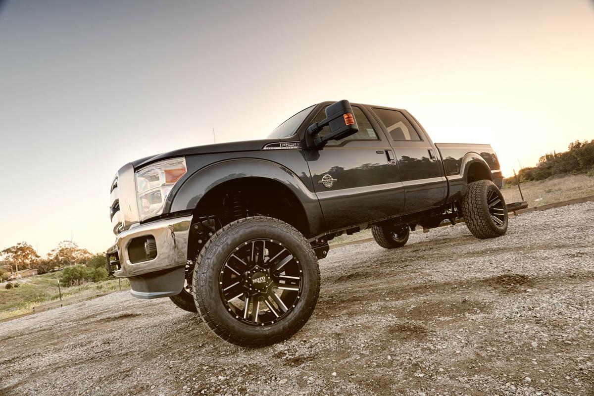 Ford F250 w 22x12 MotoMetal 968 Wheels & 37 Tires