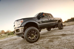 Ford F250 w 22x12 MotoMetal 968 Wheels & 37 Tires
