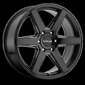 Raceline Custom Wheels 156B SURGE BLACK MILLED