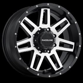 Raceline Custom Wheels 931M INJECTOR BLACK MILLED