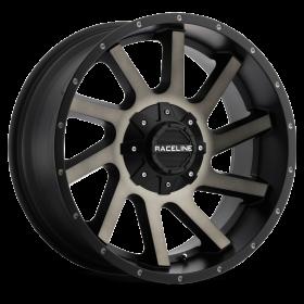 Raceline Custom Wheels 932DM TWIST BLACK MACHINED TINTED