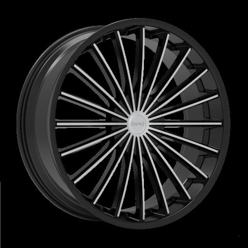 Kronik Wheels Kush MACHINED BLACK