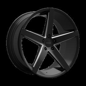 Rosso Custom Wheels Affinity BLACK MILLED