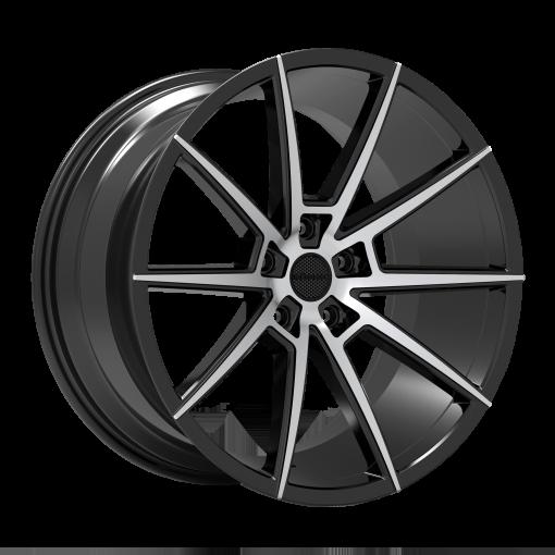 Rosso Wheels Revolution MACHINED BLACK