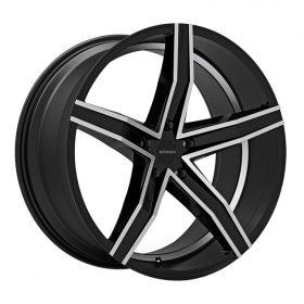 Rosso Custom Wheels Syncro MACHINED BLACK