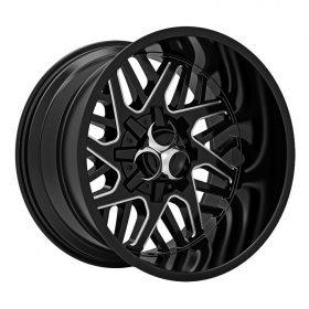 Toxic Off Road Custom Wheels Lethal BLACK MILLED