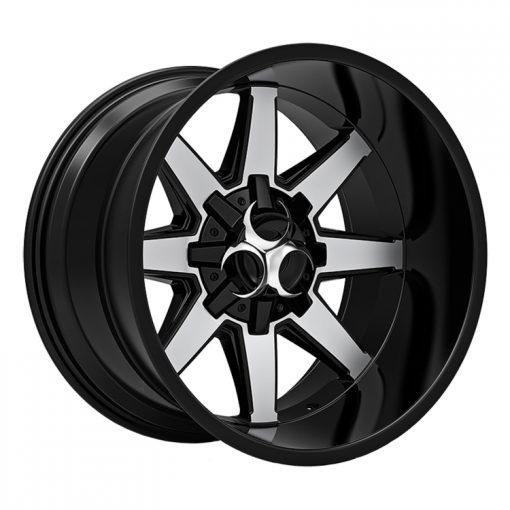 Toxic Off Road Wheels Widow MACHINED BLACK