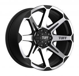 TUFF Custom Wheels T05 MACHINED BLACK