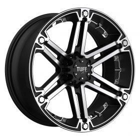 TUFF Custom Wheels T01 MACHINED BLACK CHROME