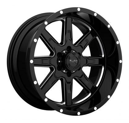 TUFF Custom Wheels T15 BLACK MILLED