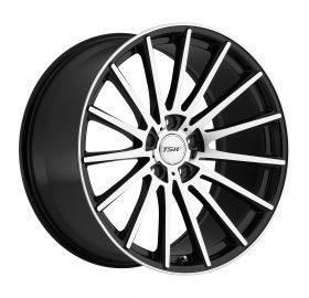 TSW Custom Wheels CHICANE MACHINED BLACK