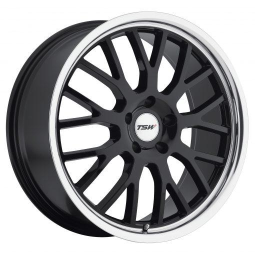 TSW Wheels TREMBLANT GLOSS BLACK W/MIRROR CUT LIP