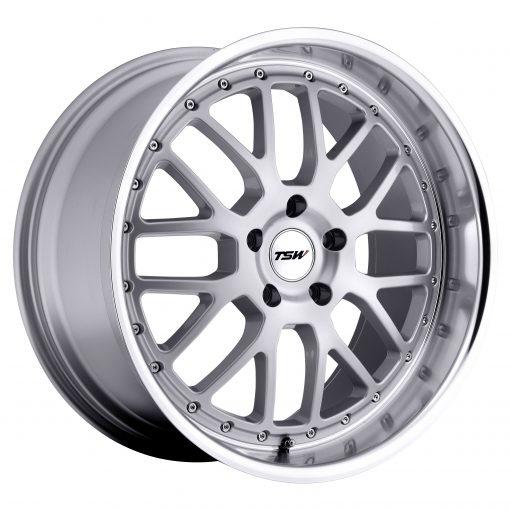 TSW Wheels VALENCIA SILVER W/MIRROR CUT LIP