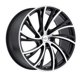 Redbourne Custom Wheels NOBLE MACHINED BLACK