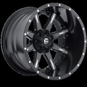 Fuel Custom Wheels NUTZ D251 BLACK MILLED