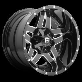 Fuel Custom Wheels FULL BLOWN D254 BLACK MILLED
