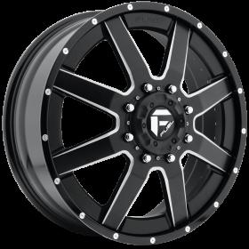 Fuel Custom Wheels D262 MAVERICK BLACK MILLED
