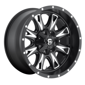 Fuel Custom Wheels THROTTLE D513 BLACK MILLED