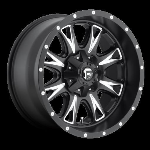 Fuel Custom Wheels THROTTLE D513 BLACK MILLED