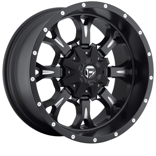 Fuel Custom Wheels D517 KRANK MATTE BLACK MILLED