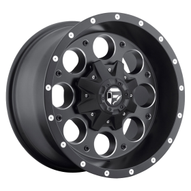 Fuel Custom Wheels REVOLVER D525 MATTE BLACK MILLED