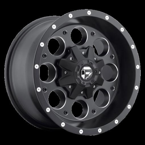 Fuel Custom Wheels D525 REVOLVER MATTE BLACK MILLED