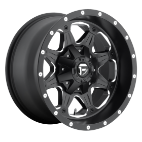 Fuel Custom Wheels BOOST D534 MATTE BLACK MILLED