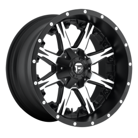 Fuel Custom Wheels D541 NUTZ MACHINED BLACK