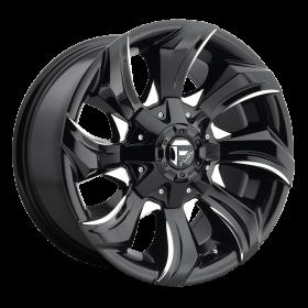 Fuel Custom Wheels STRYKR D571 GLOSS BLACK MILLED