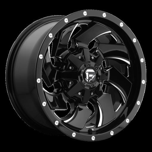 Fuel Custom Wheels CLEAVER D574 GLOSS BLACK MILLED