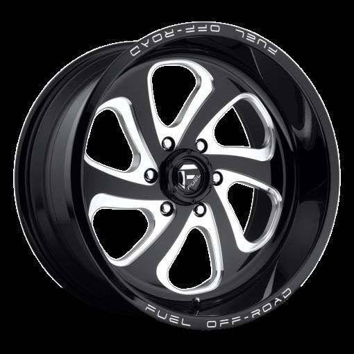 Fuel Custom Wheels D587 FLOW GLOSS BLACK MILLED