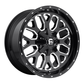 Fuel Custom Wheels TITAN D588 GLOSS BLACK MILLED
