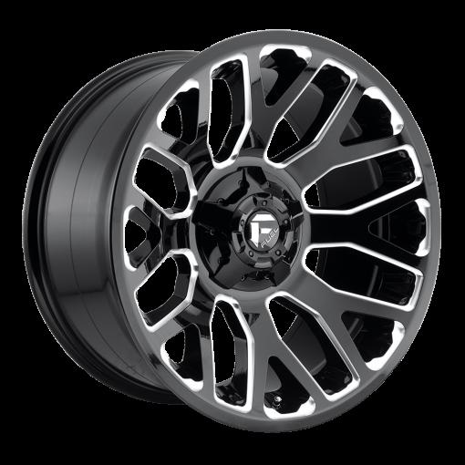 Fuel Custom Wheels D607 WARRIOR GLOSS BLACK MILLED
