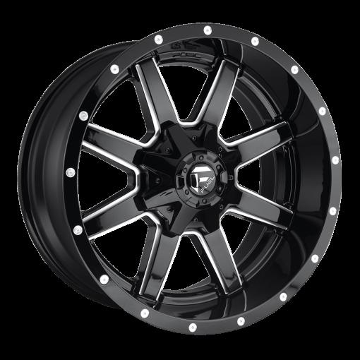 Fuel Custom Wheels MAVERICK D610 GLOSS BLACK MILLED