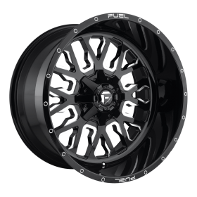 Fuel Custom Wheels STROKE D611 GLOSS BLACK MILLED