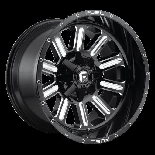 Fuel Custom Wheels HARDLINE D620 GLOSS BLACK MILLED