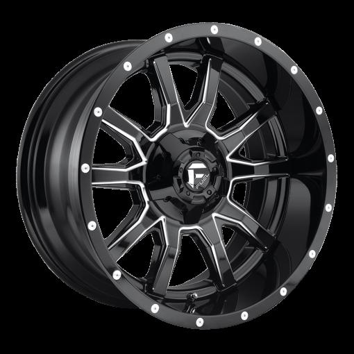 Fuel Custom Wheels VANDAL D627 GLOSS BLACK MILLED
