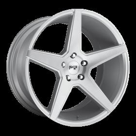Niche Custom Wheels CARINI M184 GLOSS SILVER BRUSHED
