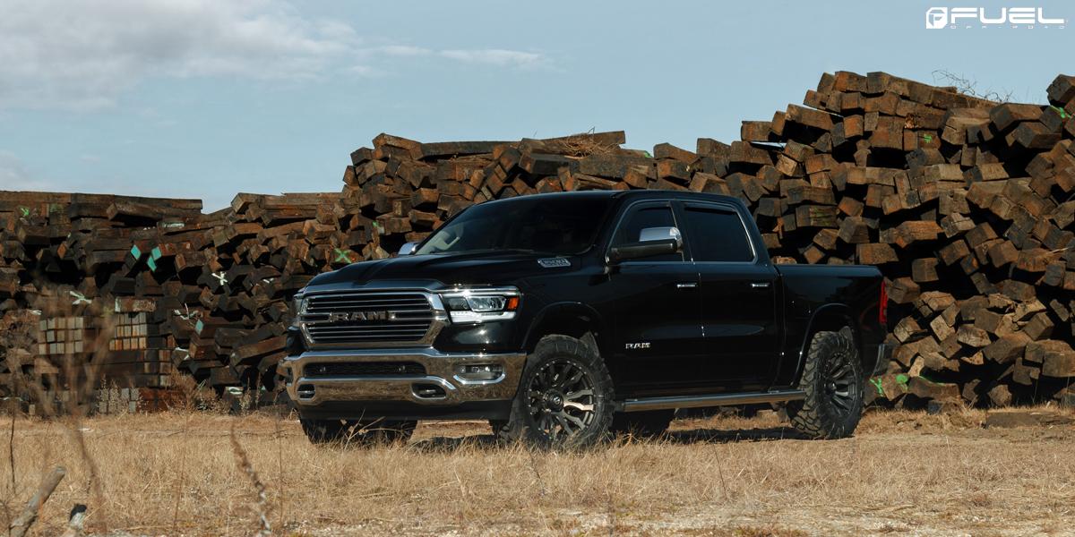 """Dodge Ram 1500 w/ 20"""" Fuel Blitz – D674 Wheels & Tires"""