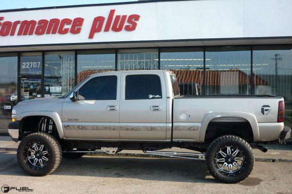 Chevrolet Silverado 2500 22x11 Fuel Hostage D532 Wheels