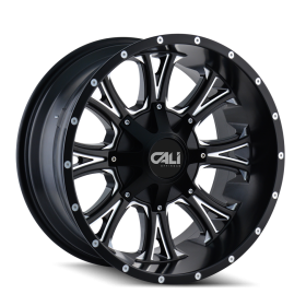 Cali Offroad Custom Wheels AMERICANA SATIN BLACK MILLED