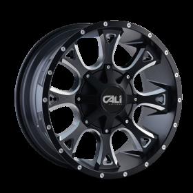 Cali Offroad Custom Wheels ANARCHY SATIN BLACK MILLED
