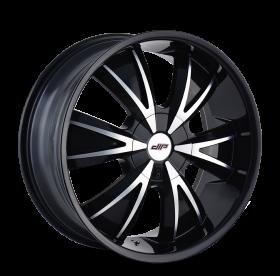 DIP Custom Wheels VIBE GLOSS BLACK MACHINED