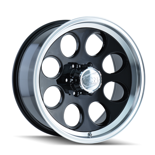 ION Custom Wheels 171 BLACK MACHINED
