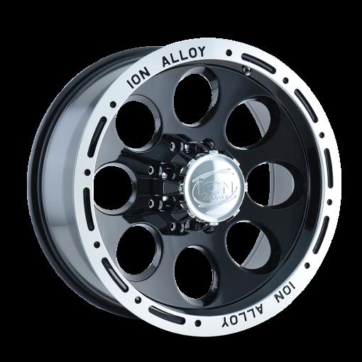 ION Custom Wheels 174 BLACK MACHINED