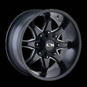 ION Custom Wheels 181 SATIN BLACK MILLED