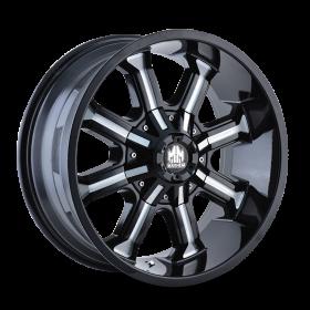 Mayhem Custom Wheels BEAST BLACK MILLED