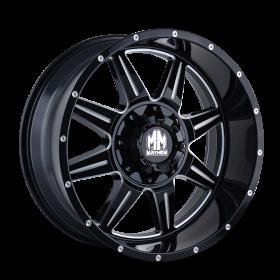 Mayhem Custom Wheels MONSTIR GLOSS BLACK MILLED