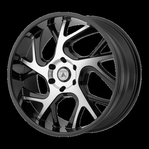 Asanti Black Custom Wheels ABL-16 MACHINED BLACK