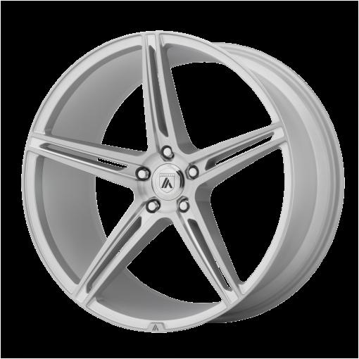 Asanti Black Custom Wheels ABL-22 ALPHA 5 MACHINED SILVER